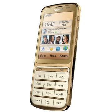 Telefon mobil Nokia C3-01 Touch and Type, Gold Edition