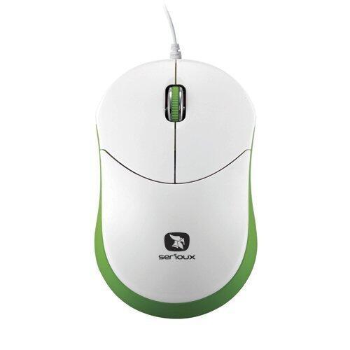Mouse mini Seria Rainbow 680, 1000dpi, alb / verde