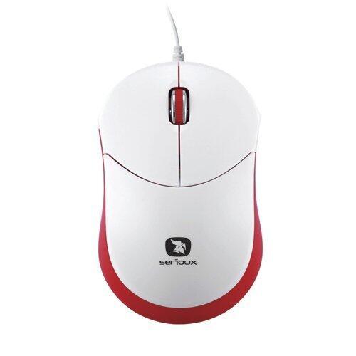 Mouse mini Seria Rainbow 680, 1000dpi, alb / rosu