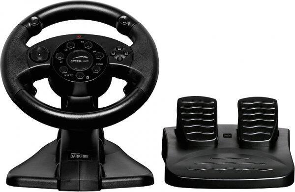 Volan cu pedale SpeedLink Darkfire Racing pentru PS3 si PC