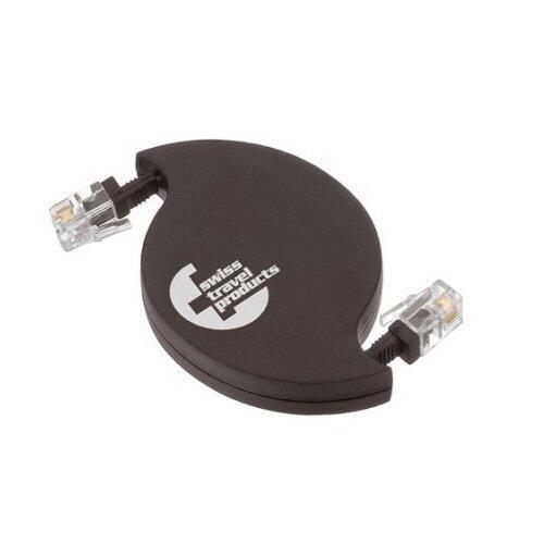 Cablu retractabil SwissTravel RMC11 pentru Modem/Telefon fix mufa RJ11