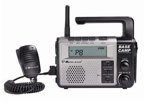 Statie radio Base Camp, PMR + FM + Maritima + lanterna + dinam
