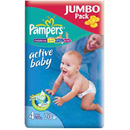 PAMPERS Scutece Active Baby 4 Maxi Jumbo Pack 70 buc