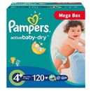 PAMPERS Scutece Active Baby 4+ Maxi Plus Mega Box 120 buc
