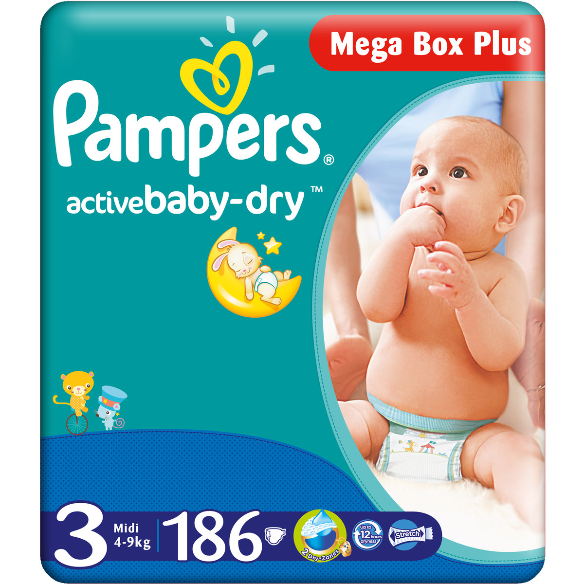 pampers active baby box