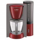 Cafetiera Bosch Private Collection TKA6034, 1100 W, 1.25 l, 10 Cesti, Rosu/Gri
