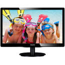 Monitor LED Philips V-Line 200V4LAB2/00, 16:9, 1600 x 900 pixeli,19.5 inch, 5 ms, negru