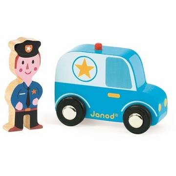 Janod My Story - Police Car & Officer